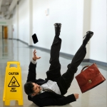 Mature Businessman Falling