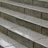 Regennasse Treppe aus Granit