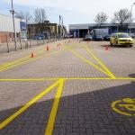 RapidLine belijningen en verkeersborden